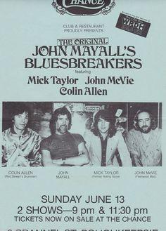 John Mayall's Bluesbreakers tour poster 1982