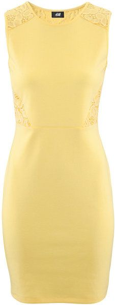 Buy H&M Women's Yellow Dress. Pretty Outfits, Beautiful Outfits, Yellow Lace Dresses, Professional Outfits, Mellow Yellow, Couture Fashion, Plus Size Fashion, Dress Up, Dresses For Work