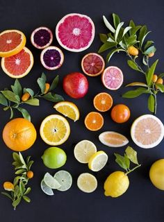 Citrus on Black – angela hardison - - Super food - health nutrition training motivation inspiration clean eating workout - womenswear menswear bayse luxe activewear Fruit And Veg, Fruits And Vegetables, Fresh Fruit, Citrus Fruits, Vegetables List, Menue Design, Food Design, Think Food, Food Styling