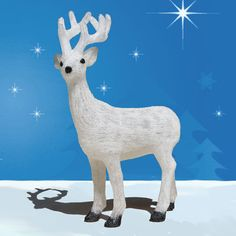 "Acrylic Deer with LED Lights.  This acrylic Deer will light up your yard with Christmas Cheer. Recommended for outdoor use. $499.00 Dimensions 42""H..."