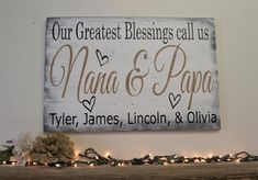 Our Greatest Blessings Call Us Grandpa And Grandma Wood Sign