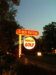 Possibly the best mini-golf course in the world.  Red Putter Miniature Golf Course, Ephraim, WI