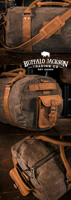 Crafted Of Waxed Canvas And Full Grain Leather With A Distressed Vintage Finish, This Duffle Duffel Bag Is Constructed With The Most Durable Of Canvases, And Highest Grade Leather. A lot Of Room For All Your Work, Sport, Or Travel Products. Canvas Duffle Bag, Leather Duffle Bag, Duffle Bag Travel, Duffel Bag, Canvas Bags, Canvas Ideas, Leather Bags, Tote Bags, Art Bag
