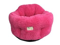 "Cat Cuddler Dog Bed Deep Dish Comfort Puppy Nest for Small Pets 20""X20\""X9(12)\"" Pink PUPTECK ** You can get more details by clicking on the image."