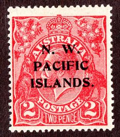 Northwest Pacific Islands Scott #45  2d Red  KGV MH F-VF Wtmk #9  1922
