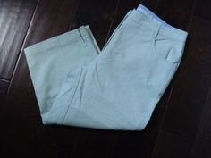 New Womens Christopher & Banks Crop Pants Classic Fit Capris Size 6 Mint Green #ChristopherBanks #CaprisCropped