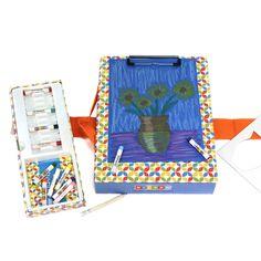 A portable children's art kit for Art on the Go.