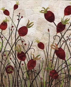 Garden of Rose Hip Delights by Kirsten's Fabric Art on Flickr