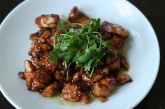 Honey Soy Stir Fried Chicken  I'll be using chicken breast in place of thighs... VERY easy recipe... only 2 steps