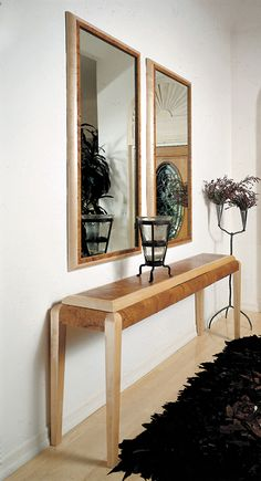 Custom made hall table with mirrors, sofa table, console table
