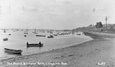 The Cinder Path, Leigh-on-Sea. Leigh On Sea, London Places, Cinder, Old Photos, Childhood Memories, Paths, Board, Ideas, Old Pictures