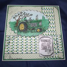 Tractor birthday card Birthday Party Themes, Birthday Cards, Tractor Birthday, Creative Art, Tractors, Party Favors, Invitations, Crafts, Decor