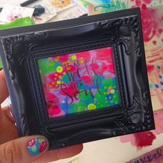 I made some mini frames today (and yes, they are this vibrant...this is real life ) that will list Thursday. Don't forget to use the coupon code ENCOURAGE to receive $15 off any purchase OVER $50 on PRINTS. #valeriewienersart #vwminiframes