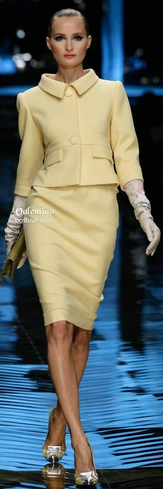 Poised and Perfect Pastel Yellow Suit Valentino