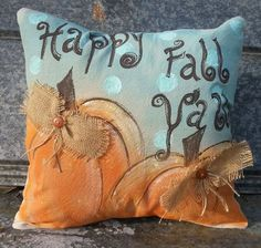 Check out this item in my Etsy shop https://www.etsy.com/listing/202496981/pillow-cover-fall-pumpkins-happy-fall