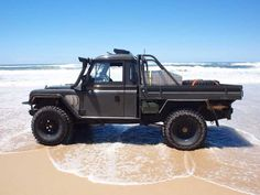 custom land rover ute.. featuring range rover internals (jag twin supercharged petrol v8) with military series iia cab
