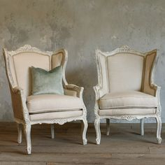 One of a Kind Vintage Bergeres French Country White Set of 2 #laylagrayce
