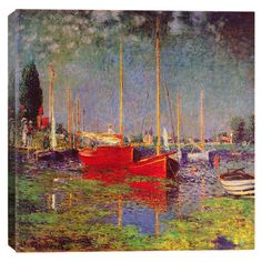 Print of Monet's Argenteuil on canvas.  Product: Canvas printConstruction Material: Cotton canvas and wood