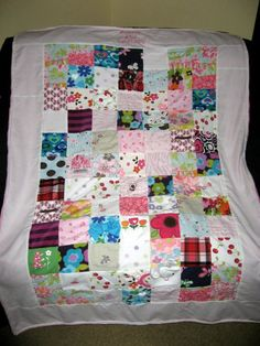 Baby Clothes Memory Quilt by TheRealVirtuousWife on Etsy, $180.00
