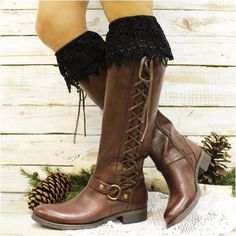 CAMELIA tall lace boot sock - black FREESHIPPING!                                                                                                                                                                                 More