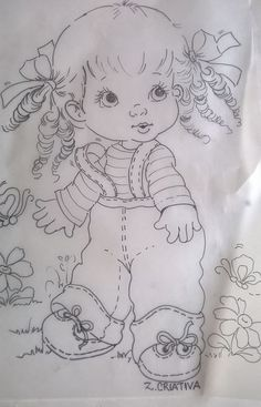 Embroidery patterns tree baby coloring pages Ideas Pencil Art Drawings, Cartoon Drawings, Cute Drawings, Baby Coloring Pages, Coloring Books, Baby Embroidery, Embroidery Patterns, Tole Painting, Fabric Painting