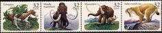 1996 32c Prehistoric Animals, Strip of 4 Scott 3077-80 Mint F/VF NH  www.saratogatrading.com