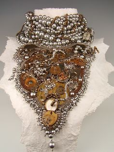 Tangled Up in Time by Diane Hyde Bead Dreams Competition 2010 First place Crystal Jewelry