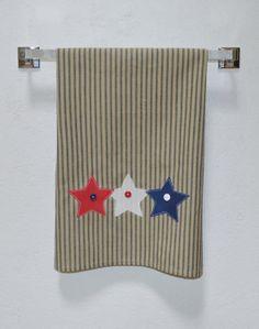 Kitchen Hand Towel Patriotic Towel Patriotic Star by SuesAkornShop
