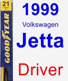 Driver Wiper Blade for 1999 Volkswagen Jetta - Premium
