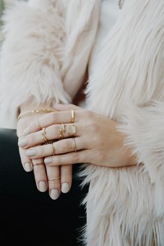 The Multi Thorn Ring Set // Gold // Luv Aj #foraycollective