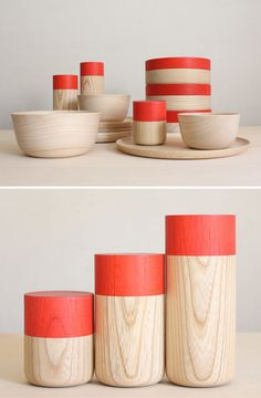 Love these wooden containers and bowls. #designeveryday pinterest find via @splendidLA