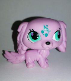 Littlest Pet Shop Pink Cocker Spaniel Dog Music Green Eyes #2880 Preowned LPS in Toys & Hobbies, Preschool Toys & Pretend Play, Littlest Pet Shop | eBay
