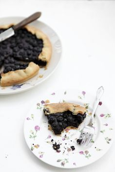 Blueberry Chocolate Frangipane Tart