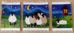 """Midnight Gang"" Handwoven Sheep Tapestry"