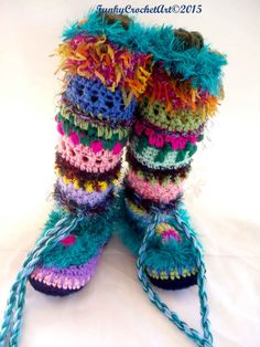 Be My Valentine the funkiest slipper boots/ leg warmers on the planet! ........  while curling up on the sofa with your favourite TV show or a