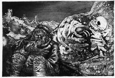 WWI: 'Sketches on war by German painter Otto Dix.'