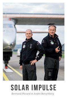 Bertrand Piccard et André Borschberg, deux ingénieurs suisses à l'origine des deux premiers avions civils à énergie solaire