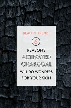 Beauty Trend: 6 reasons activated charcoal can do wonders for your skin. Hot Beauty Health blog