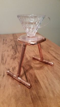 Items similar to Pour over stand for Hario Handmade Copper brew station on Etsy Coffee Brewer, Coffee Cafe, Coffee Shop, Pour Over Coffee, Drip Coffee, Coffee Holder, Coffee Equipment, Coffee Dripper, Coffee Stands
