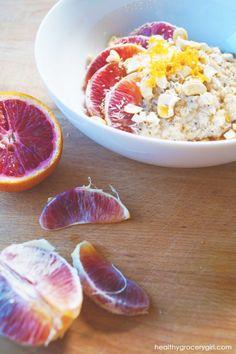 Coconut Cashew Maple Orange Oatmeal // Vegan // http://healthygrocerygirl.com/cashew-orange-oatmeal/