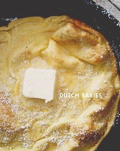 BABIES The best excuse to use your cast iron -- Dutch babiesThe best excuse to use your cast iron -- Dutch babies Brunch Recipes, Baby Food Recipes, Breakfast Recipes, Dessert Recipes, Cooking Recipes, Desserts, Gourmet Breakfast, Sweet Breakfast, Pennsylvania Dutch Recipes
