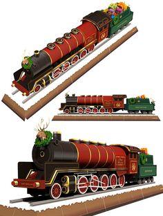 christmas-train-paper-model