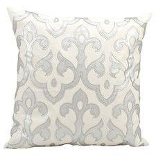 Luminescence Laser Cut Fleur De Cotton Throw Pillow