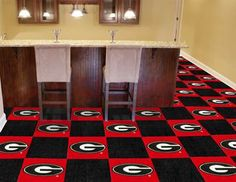 Georgia Bulldogs Carpet Tiles will have to get these for my sports room when I buy my house