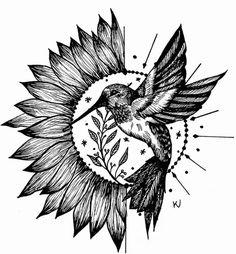 Tattoo Design Drawings, Tattoo Sketches, Tattoo Designs, Mandala Tattoo, Arm Tattoo, Hummingbird Tattoo, Sunflower Tattoos, Tumbler Cups, Tattoo Inspiration