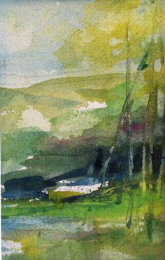 Robin C. Miller Watercolor The Walk to Santiago (Camino Walk of St.James) 2014