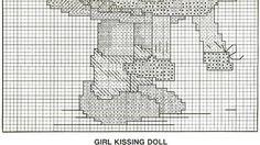 """""""Kiss Me"""" Hummel cross stitch pattern, 2B"""