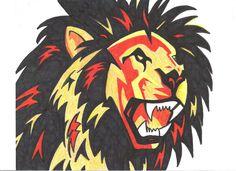 abstract lion draw - Google keresés
