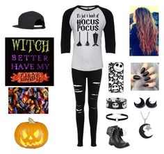 """""""Ready for Halloween"""" by taylorbug1616 ❤ liked on Polyvore featuring Miss Selfridge and Jewel Exclusive"""
