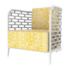 """Rattan is carefully hand bent and stacked into rectangles to create an iconic """"Steps"""" design. Risk-taker par excellence, style maven extraordinaire, Florence Broadhurst's most exhilarating legacy is a"""